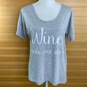 Madison & Berkeley  Graphic Tee Wine Made Me Do It